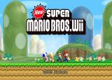 New Super Mario Bros. Wii Wii Title Screen