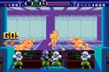 Gunstar Super Heroes Game Boy Advance Funny: While the guards disregard the infrared camera view, you fight  in the background.