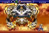Gunstar Super Heroes Game Boy Advance The boss tries to squash us with Yellow's ship.