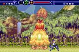 Gunstar Super Heroes Game Boy Advance Boss fight against a huge plant