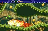 Gunstar Super Heroes Game Boy Advance This level turns around its axis; you must protect baby birds from evil creatures.