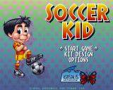 Soccer Kid Amiga CD32 Main menu.