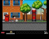 Soccer Kid Amiga CD32 Level one starts in front of Soccer Kid's home.