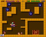 Super Methane Bros Amiga CD32 These enemies move around the wall's outlines.