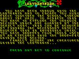 Labyrinthion ZX Spectrum How to play / what to do
