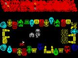 Labyrinthion ZX Spectrum First screen; several monster are immediately onto you and kill you before you can even move.