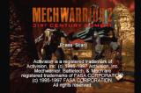 MechWarrior 2: 31st Century Combat PlayStation Title screen