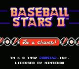 Baseball Stars 2 NES Title Screen