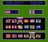 Baseball Stars 2 NES Team Select