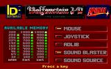 Wolfenstein 3D DOS menu screen