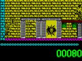 Artura ZX Spectrum Artura is at the far left. Battle axes fall as though under the influence of gravity. One thrown here will hit the ground at the far right. Here a warrior has been killed scoring 10 points