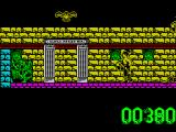 Artura ZX Spectrum Bad guys die in a poof of black. Artura turns into a pretty bird.