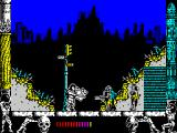 Metropolis ZX Spectrum That's one warrior gone. The player has keys for attack & defence (M & N ) and at first it's hard to keep moving to the right while covering both keys