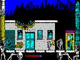 Metropolis ZX Spectrum The next screen and he's facing some kind of monkey man as well as warriors