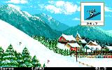 Winter Games Atari ST Ski jumper mid air; perform some tricks if you can!
