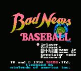 Bad News Baseball NES Title Screen