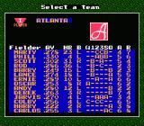 Bad News Baseball NES Roster screen