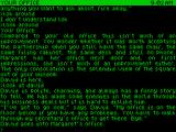 Corruption ZX Spectrum The text parser seems to understand most things