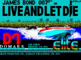 Ian Fleming's James Bond 007 in Live and Let Die: The Computer Game ZX Spectrum This screen displays as the game loads