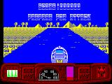 Ian Fleming's James Bond 007 in Live and Let Die: The Computer Game ZX Spectrum Start of the training mission on a waterway in the desert. Its obvious that this is the desert because its yellow and there's the obligatory pyramid
