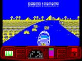 Ian Fleming's James Bond 007 in Live and Let Die: The Computer Game ZX Spectrum Mines ahead. Luckily Bond's twin mortars have cleared a couple