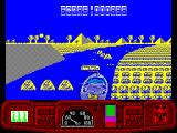 Ian Fleming's James Bond 007 in Live and Let Die: The Computer Game ZX Spectrum Rocks in the river and that bar thing ahead is a ramp that can be jumped
