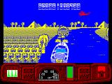 Ian Fleming's James Bond 007 in Live and Let Die: The Computer Game ZX Spectrum Now the choppers join in