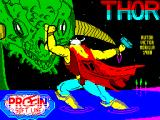 Thor ZX Spectrum This screen displays as the game loads