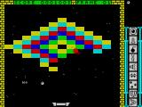 Blockbuster ZX Spectrum Hitting one of those red floating things scores 100 points
