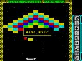 Blockbuster ZX Spectrum Game over. Its an easy game to play but I'm lousy at it