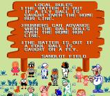 Dusty Diamond's All-Star Softball NES Field rules