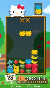 Hello Kitty: Puzzle Party PSP About to make a match.