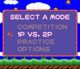 Kirby's Avalanche SNES Choose your mode of play