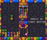 Kirby's Avalanche SNES In the practice mode you play alone. Bubbles of the same color will stick together, a group of 4 or more will explode and disappear.
