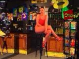 Ibiza Babewatch Windows Laura welcomes you in her shop (in Russian)