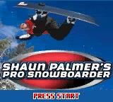 Shaun Palmer's Pro Snowboarder Game Boy Color Title Screen