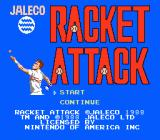 Racket Attack NES Title Screen