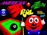 American 3D Pool ZX Spectrum The game title screen
