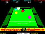 American 3D Pool ZX Spectrum Game rules are enforced. here a foul shot has been made. The next shot must be taken from baulk