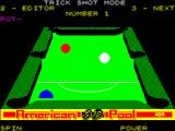 American 3D Pool ZX Spectrum The trick shot did not quite come off. After seeing the balls come to rest the game resets the shot for a another attempt