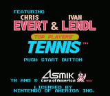 Top Players' Tennis NES Title Screen