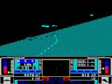 Snow Strike ZX Spectrum Free flight over land, tracking another plane
