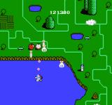 TwinBee NES The player gets bonuses for killing land objects