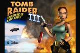 Tomb Raider III: Adventures of Lara Croft PlayStation Main menu