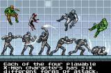 X-Men: The Official Game Game Boy Advance The tutorial is non-interactive and consists of two screens with text explanations.