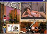 Digital Strip Poker featuring Carrie Stevens Windows Carrie bets twenty-five without shorts (White-blue outfit round 2)