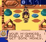 Maya the Bee: Garden Adventures Game Boy Color Asking the queen for help