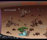 "WeaponLord SNES Two-Thirds of the ""world map"" is displayed on this screen"