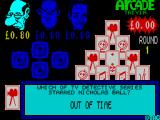Arcade Trivia Quiz ZX Spectrum ... but the player must still be quick because they cannot afford to fumble with the action keys