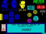 Arcade Trivia Quiz ZX Spectrum There are 5 steps in the cash run and player 3 dropped out at the first question